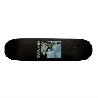 new york united states usa vintage retro travel skateboard decks