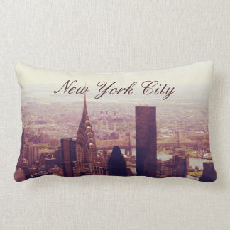 New York uptown Skyline, NYC Throw Pillow