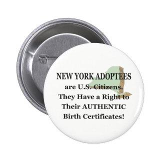 New York: US Citizen Button