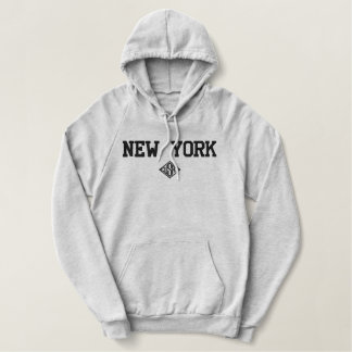 New York USA Embroidered Hoodie