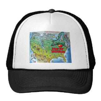 New York USA Map Trucker Hat