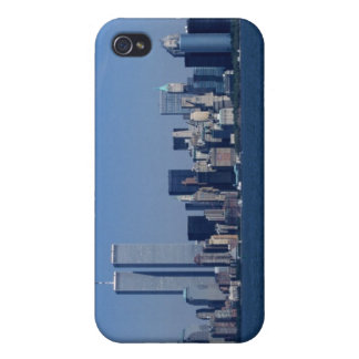New York, USA. Skyline of downtown Manhan Cover For iPhone 4