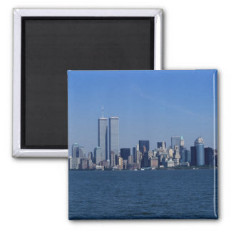 New York, USA. Skyline of downtown Manhattan 2 Inch Square Magnet