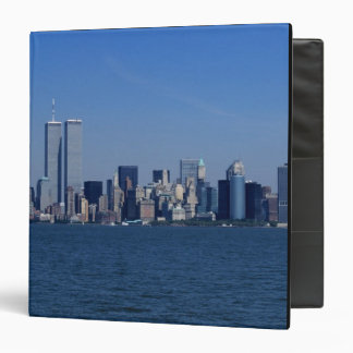 New York, USA. Skyline of downtown Manhattan 3 Ring Binder