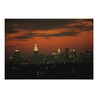 New York, USA. Skyline of uptown Manhattan 2 Photo Print