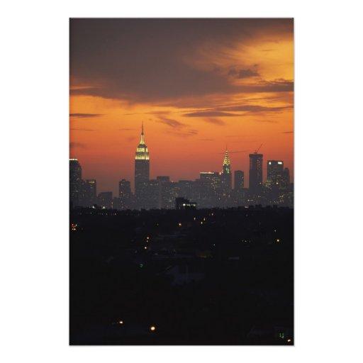 New York, USA. Skyline of uptown Manhattan Art Photo