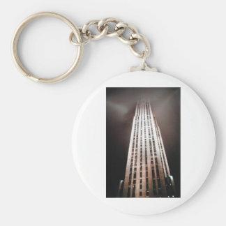 New York USA Skyscraper architecture photograph Basic Round Button Keychain
