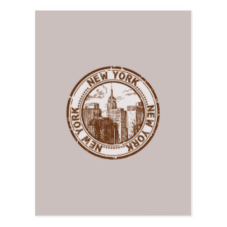 New York, USA Travel Stamp Postcard