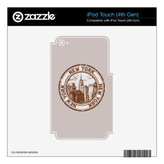 New York, USA Travel Stamp Skin For iPod Touch 4G