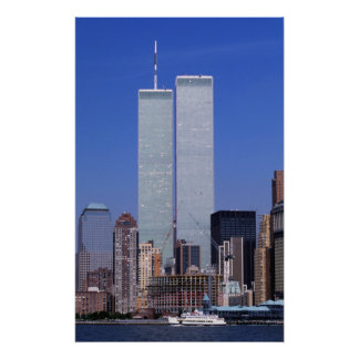 New York, USA. Twin towers of the famous World Print
