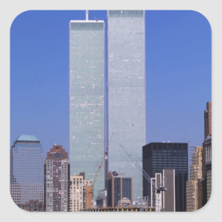 New York, USA. Twin towers of the famous World Square Sticker