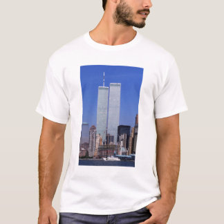 New York, USA. Twin towers of the famous World T-Shirt