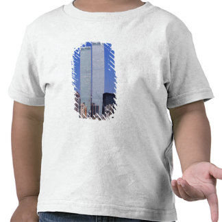 New York, USA. Twin towers of the famous World Shirt