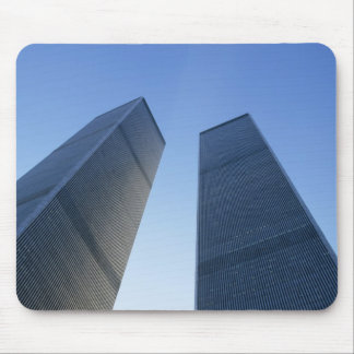 New York, USA. View up at twin towers of the Mouse Pad