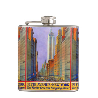 New York USA Vintage Travel flask