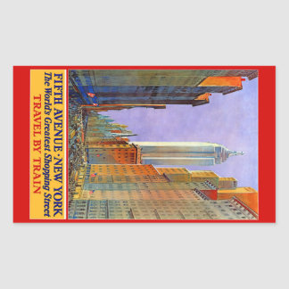 New York USA Vintage Travel stickers