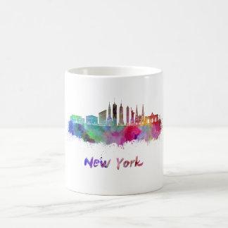 New York V3 skyline in watercolor Coffee Mug