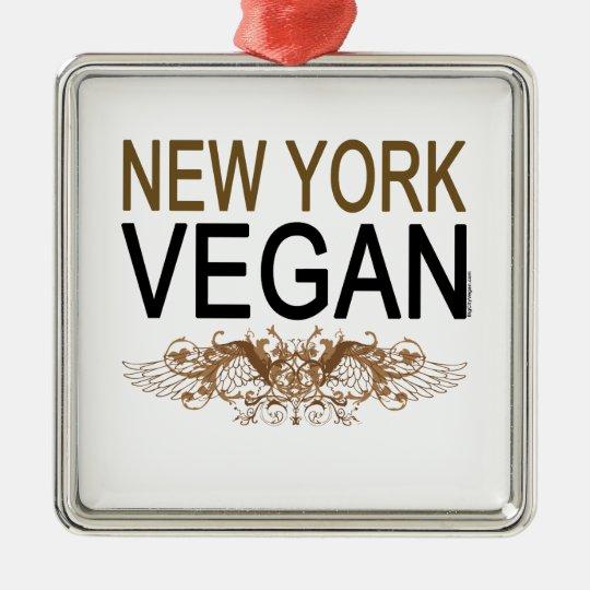 New York Vegan Metal Ornament