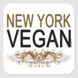 New York Vegan Square Stickers