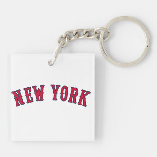 New York Versus Boston Rivals Double-Sided Square Acrylic Keychain