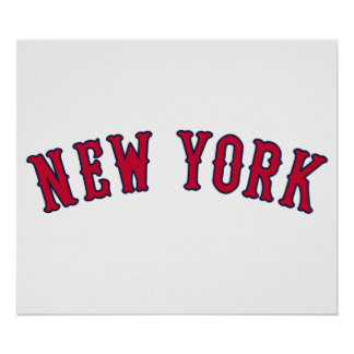 New York Versus Boston Rivals Print