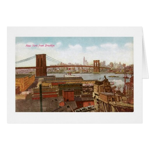 New York View from Brooklyn Greeting Card