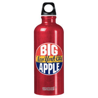 New York Vintage Label Aluminum Water Bottle