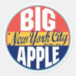 New York Vintage Label Classic Round Sticker