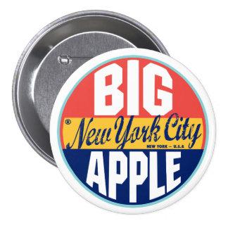 New York Vintage Label Pinback Button