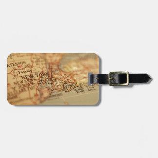 NEW YORK Vintage Map Bag Tag