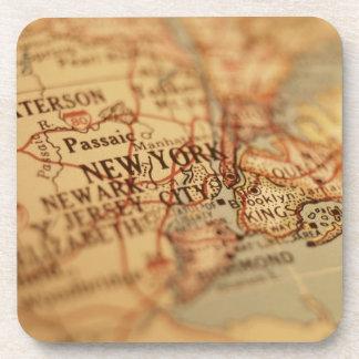 NEW YORK Vintage Map Beverage Coaster