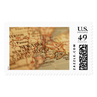 NEW YORK Vintage Map Postage