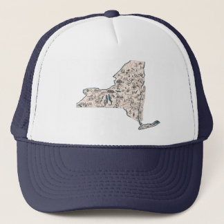 New York Vintage Picture Map Trucker Hat