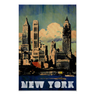 New York - Vintage style travel poster