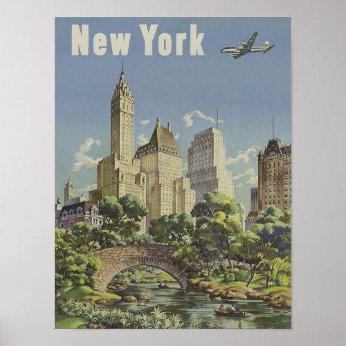 New York Vintage Travel poster
