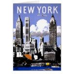New York Vintage Travel Poster Restored Card