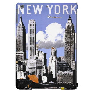 New York Vintage Travel Poster Restored iPad Air Cover