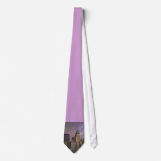 New York, violet dream Neck Tie