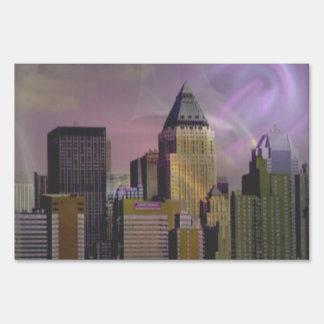 New York violet dream Lawn Sign
