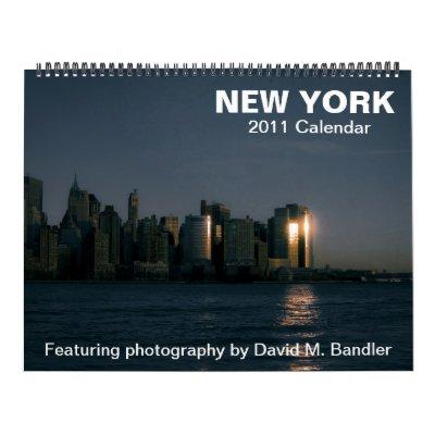 New York Wall Calendar