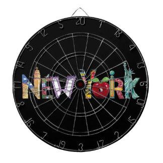 New York wall clock Dart Board