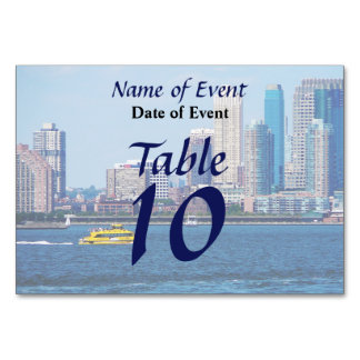 New York Water Taxi Table Cards