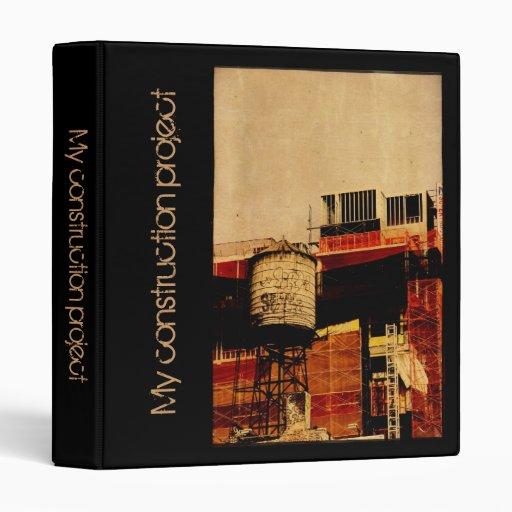 New York water tower construction binder