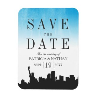 New York Wedding Save the Date Magnet