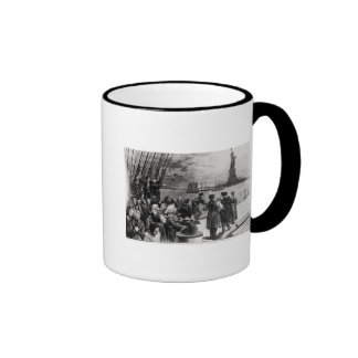 New York - Welcome to the land of freedom Ringer Coffee Mug
