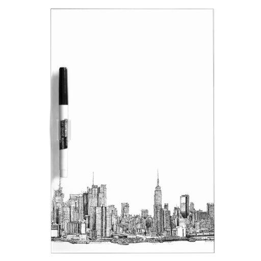 New York white inkboard Dry Erase Board