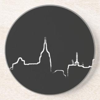 New York white skyline coaster