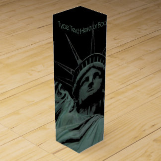 New York Wine Box Statue of Liberty New York Box