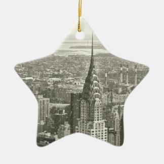 New York Winter Ceramic Ornament