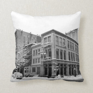 New York Winter - City in the Snow Pillow